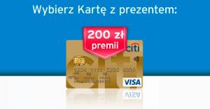 Citi Handlowy: premia za kartę kredytową Citibank do 200 zł