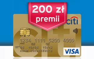 200 zł premii: Karta Kredytowa Citibank