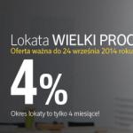 Idea Bank oferuje 4% na Lokacie Wielki Procent.