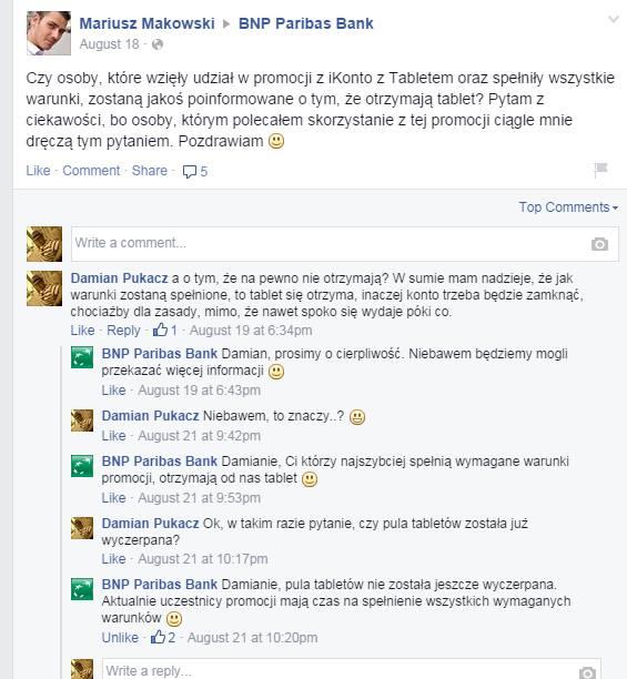 BNP Paribas na Facebooku