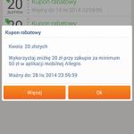 Allegro znów rozdaje kupon o wartości 20 zł przy zakupach za 50 zł.