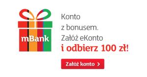 100 zł za założenie eKonta z premią w mBanku