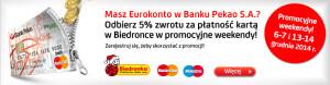 Eurokonto: 5% zwrotu za zakupy w sklepach Biedronka
