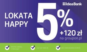 120 zł do wykorzystania na groupon.pl za założenie Lokaty Happy