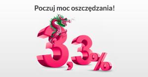 3,3% na koncie oszczędnościowym w Banku Millennium