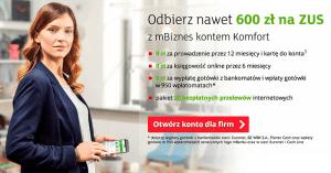 Nawet 600 zł na ZUS od mBanku – promocja przedłużona do końca marca!