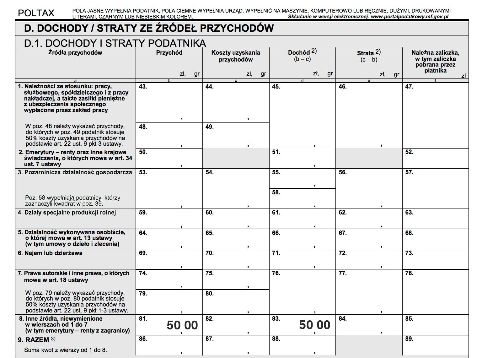 Jak rozliczyć PIT-8C w PIT-36
