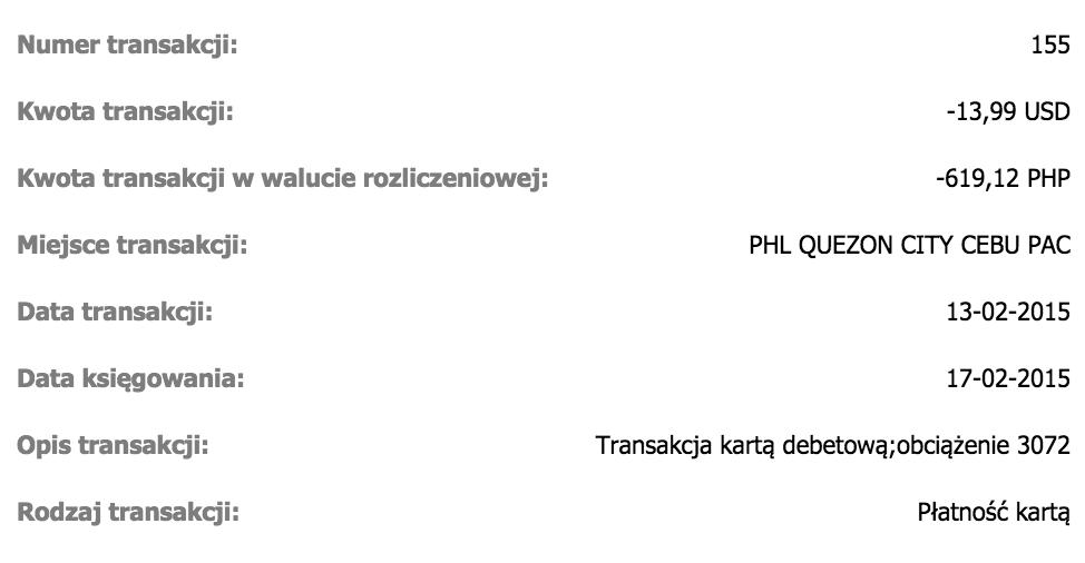 Alior Kantor: transakcja PHP na USD