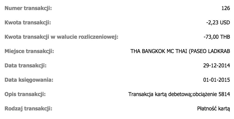 Alior Kantor: transakcja THB na USD