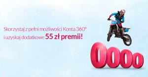 55 zł premii za założenie Konta 360° Banku Millennium