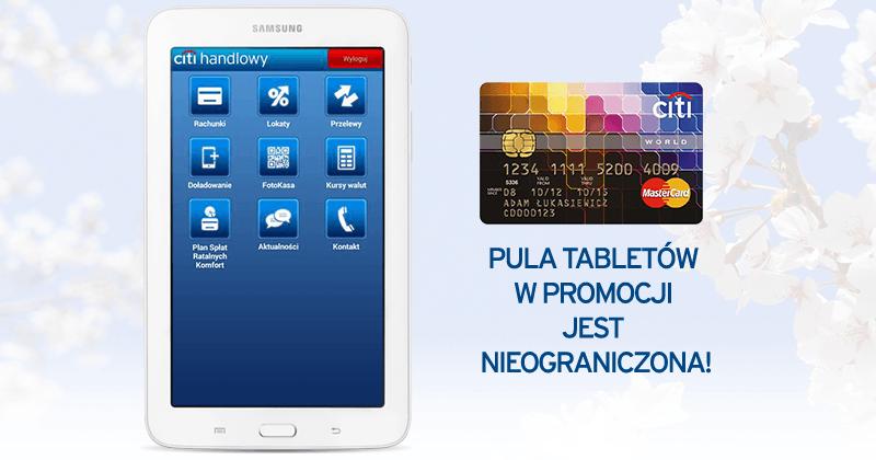 Tablet Samsung Galaxy za kartę kredytową Citibank