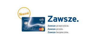 Darmowa karta kredytowa Citi Simplicity. Na Zawsze.
