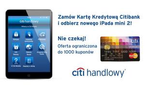 iPad mini 2 za wyrobienie karty kredytowej Citibank World MasterCard!