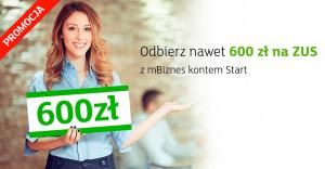 Wraca promocja 600 zł na ZUS z mBiznes kontem mBanku!