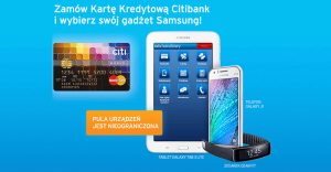 Citibank: gadżety Samsung za wyrobienie karty kredytowej