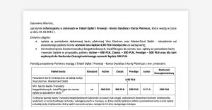 Eurobank: zmiana tabeli opłat od października 2015