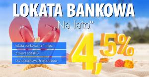 """4,5% na Lokacie bankowej """"Na lato"""" w Expander"""