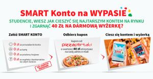 Smart Konto na wypasie: 40 zł na jedzenie na PizzaPortal.pl