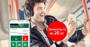 Zyskaj 20 zł zwrotu za przejazdy komunikacją miejską – bądź smart z aplikacjąBZWBK24 mobile