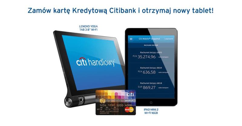 iPad mini 2 za wyrobienie karty kredytowej Citibank