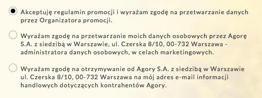 Wymagane zgody marketingowe w promocji 100 zł premii za Konto Godne Polecenia