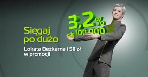 50 zł za założenie Lokaty Bezkarnej (3,2% do 100 000 zł) BGŻOptima