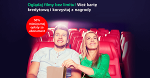 50% zniżki za abonament do kin Cinema City Unlimited