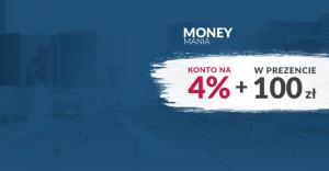 Moneymania: 4% i 100 zł za założenie konta BZWBK!