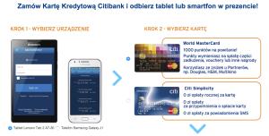 Citibank: Tablet Lenovo lub telefon Galaxy Tab o wartości 449 zł za wyrobienie… DARMOWEJ karty Simplicity!