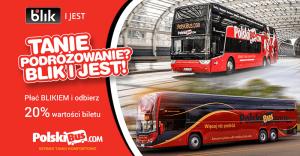 PolskiBus: 20% zwrotu za płatności BLIKiem