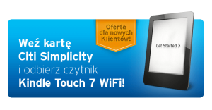 Citibank: Kindle Touch 7 WiFi za wyrobienie karty Simplicity