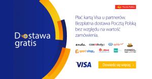 Poczta Polska: Darmowa wysyłka kurierem Pocztex za płatność kartąVisa