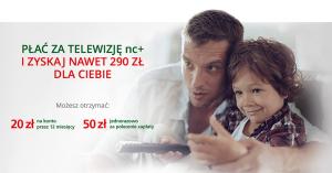 290 zł za opłacanie nc+ z konta BZWBK