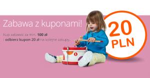 20 zł zniżki na Allegro za dokonanie zakupów o wartości 100 zł z okazji Dnia Dziecka