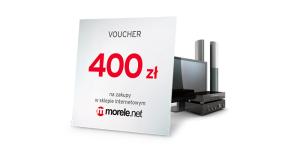 Voucher o wartości 400 zł do morele.net za kartę kredytową Simplicity