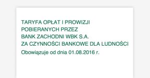 Zmiana tabeli opłat w BZWBK od sierpnia 2016. Zapłacimy m.in. za… przelewy i autoryzację SMSami!