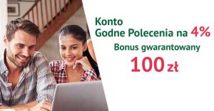 Comperia Bonus 6: 100 zł za założenie Konta Godnego Polecenia 4%
