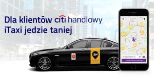 20 zł zniżki na przejazdy iTaxi od Citibanku