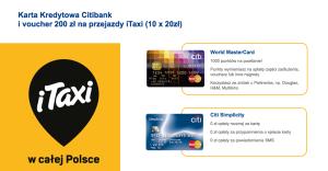 200 zł na przejazdy iTaxi za wyrobienie karty kredytowej Citibanku