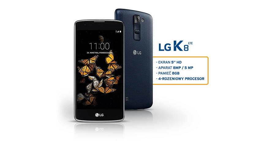 LG K8 LTE za wyrobienie karty kredytowej Simplicity