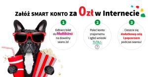 Bilet do Multikina za założenie Smart Konta (oraz popcorn i cola za polecenie oferty)