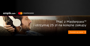 25 zł zniżki na empik.com za płatność portfelem MasterPass
