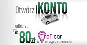 Konto z samochodem: 80 zł na przejazdy Traficar dla obecnych i nowych klientów BGŻ BNP Paribas