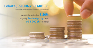 3,2% na Lokacie Jesienny Skarbiec dla nowych i 3% dla obecnych klientów neoBank