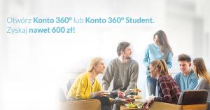 100 zł za założenie Konta 360° w Banku Millennium i do 500 zł za polecenie