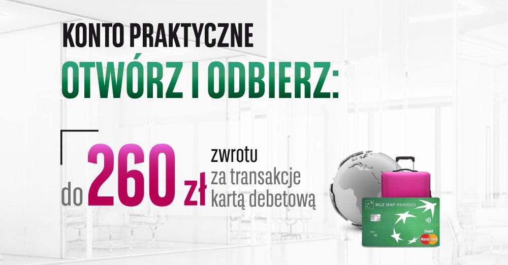 260 zł za założenie Konta Praktycznego na groupon.pl