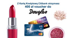400 zł do Douglas za wyrobienie karty Citibank Simplicity