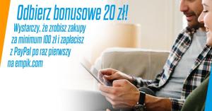 20 zł rabatu na empik.com za płatność PayPal