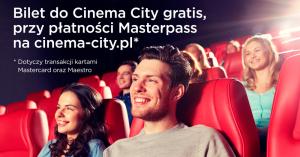 Drugi bilet gratis w Cinema City za płatność portfelem MasterPass