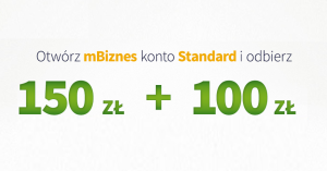 mBank: łatwe 150 zł na start i 100 zł za przelew do ZUS za założenie mBiznes konta Standard